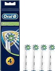 Oral-B CrossAction Aufsteckbürsten, mit Bakterienschutz, 1er Pack (1 x 4 Stück)