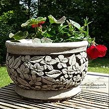 Maceta de piedra para jardín/maceta de piedra moldeada a mano