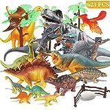 Estela Joylink Dinosaur Set de 17 Figurines réalistes Modèle de Jouet pour Anniversaire d'enfants Décoration de fête Les Quatre Petits Dinosaures sont aléatoires