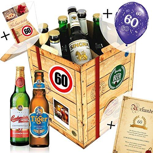 60 geburtstag geschenk f r freund biere der welt. Black Bedroom Furniture Sets. Home Design Ideas
