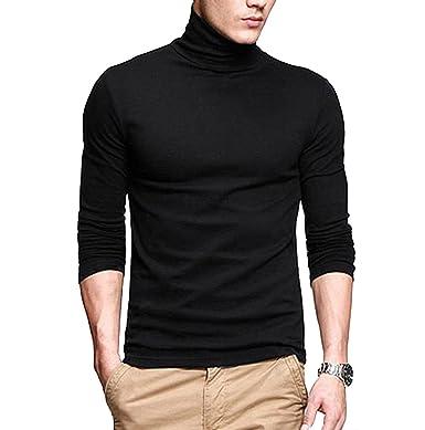 Fanideaz Men's Cotton Full Sleeve Classic High Neck Black T Shirt ...