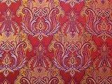 Barock Gewebe der Brokat Kleid Rot und Lila–Meterware