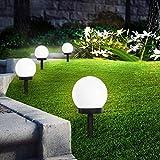 SEFON Lampes Exterieure Solaires De Jardin Au Sol,Exterieure Étanche Lumiere 8 Pack IP44 Globe Stake lumière Pour extérieur V