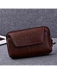 Buyworld Men Fanny Pack Mobile Phone Bags Brown Black Good Quality Soft Coin Purse Burse Pocket Bag Casual Waist...