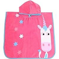 Ziggle Hooded Poncho Swim Bath Towel Toddler Kids Quick Dry (Eunice Unicorn)