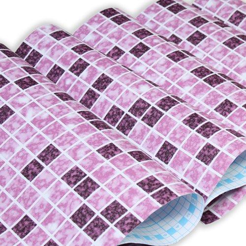 Zhzhco Selbstklebende Pvc-Tapeten Wild 4,5 Quadratmeter (Lila) Rubber Face Wallpaper