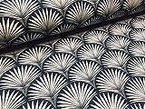 LushFabric Geometrischer Damaststoff, Blumenmuster, Art