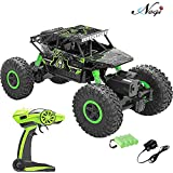 #4: Negi 1:18 Rechargeable Rock Crawler 4WD 2.4 Ghz 4x4 Rally Car RC Monster Truck Kids Play Toys (Green)