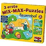 Haba Selection 301055 3 erste Mix-Max-Puzzles Bauernhof