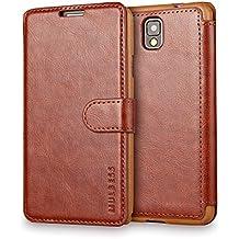 Funda Samsung Galaxy Note 3, Mulbess Samsung Galaxy Note 3 Wallet Case [Marrón] - Funda Cuero con Ranuras Cierre Magnético para Samsung Galaxy Note 3