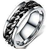 Jude Jewelers 8mm سلسلة الفولاذ المقاوم للصدأ مرصعة خاتم الزفاف سائق الدراجة