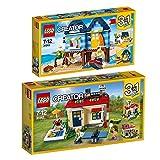 Lego Creator 2er Set 31063 31067 Strandurlaub + Ferien am Pool