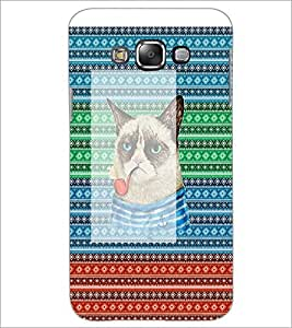 PrintDhaba Smoking Cat D-4547 Back Case Cover for SAMSUNG GALAXY GRAND MAX (Multi-Coloured)