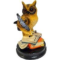 HOMERRY Petite figurine de hibou aigle sur des livres en résine - Sculpture d'animal de collection - Hibou de sagesse et…