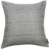 McAlister Textiles Aztec Kollektion | Extragroßer Kissenbezug im Geometrischen Colorado-Muster | 60cm x 60cm in Grau | Deko Kissenhülle für Sofa, Bett, Couch, Kissen
