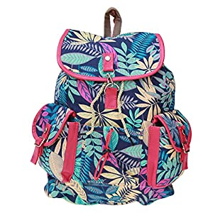 BRANDX Imported Designer Collectionz light weight Canvas Backpack Cute Travel School College Shoulder Bag/Bookbags for Teenage Girls/Students/Women/ Girls- (US Best Seller) Designer3502M