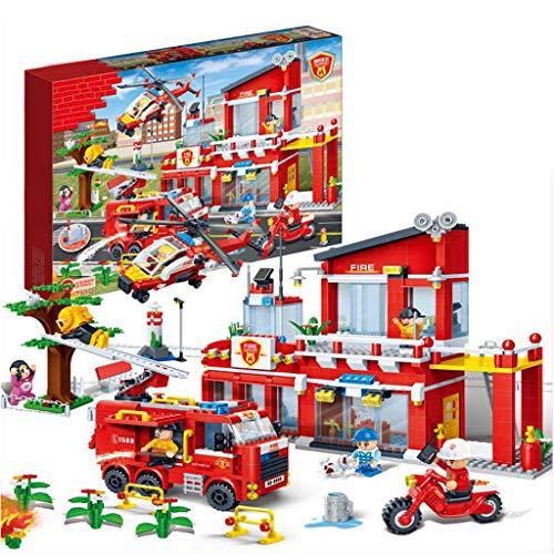 Stadtfeuerwehr, Kinderbausteine, Kinderbausteine, Feuerleitern, Bausätze (1318 Stück)