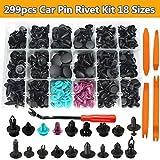 299 Stücke Auto Clips Set Universal Türverkleidungs und Klammern Stoßstangen Befestigung Clips Auto mit Lösewerkzeug 22.5cm