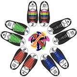Cordones de Silicona, No Hay Necesidad de Atar, Sin Corbata Cordones de Zapatos para Niños y Adultos, Cordones Zapatos Elasti