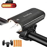 Luci per Bicicletta,Luci Bicicletta LED Ricaricabili USB con 2400 lumens 4 modalità,Luce Bici Anteriore e Posteriore Super Lu
