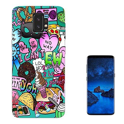 c01054 - Cool Fun Cartoon Bomb Donut Monsters Boombox Pretzel Eww No Way Design Samsung Galaxy S9 + Plus Fashion Trend Silikon Hülle Schutzhülle Schutzcase Gel Silicone Hülle