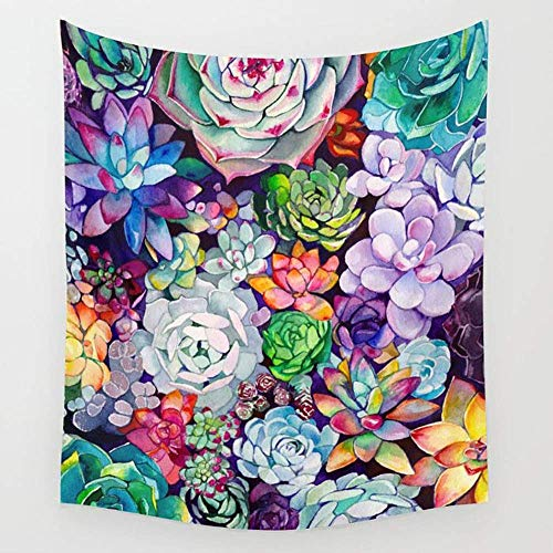 BAOQIN Tapisserie Succulent Garden Wall Tapestry Hanging Tapestries Wall Art for Living Room Bedroom Dorm Decor 80 X 60 Inch