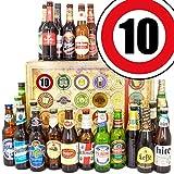 Geschenk zum 10. Jubiläum - 24 Biersorten aus Welt - Bier Geschenke