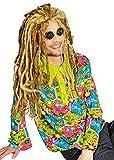 Hippie Hemd Love and Peace Gr. 50 52 - Tolles Oberteil für Kostüme IM 70er oder 80er Jahre Stil zu Karneval oder Mottoparty