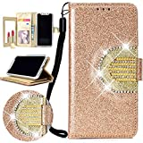 Nadoli Coque Galaxy J5 2017 Clapet,Glitter Strass Miroir PU Leather Case Paillettes...