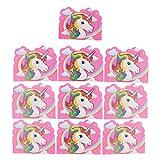 MagiDeal 10 Stück Lustige Einladungskarten zum Kindergeburtstag Einhorn Muster Party Geburtstag Einladung Kinder-Einladungen