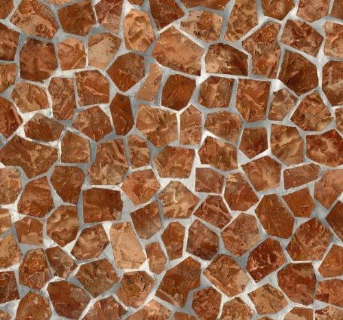 Alkor Sticky Back Plastic (self adhesive vinyl film) Tiles Becky Brick (Mosaic) 45cm x 2m 380-0009