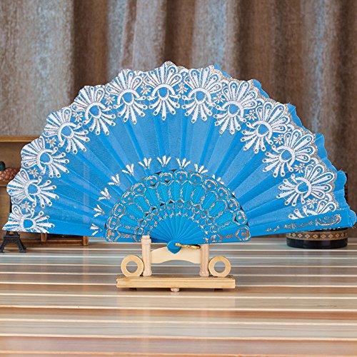 Sllowwa Lace Klappfächer Handfächer Retro Stil Spitzen Fächer für Party Dekoration Damen 1920s Kostüm - Calypso Kostüm
