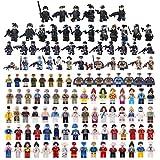 BOROK 122 Stück Mini Figuren Set SWAT Team Polizei Armee Soldaten Menschen Community Minifiguren Bausteine Spielzeug Adventskalender Inhalt für Kinder