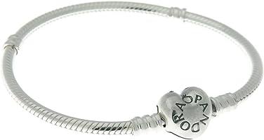Pandora Women's Sterling Silver Heart Clasp Bracelet - 590719-21
