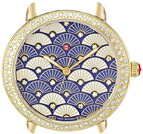 MICHELE Women's Swiss Quartz Stainless Steel Automatic Watch, Color:Gold-Toned (Model: MW21B01B0092)