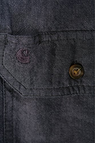 Carhartt S202 L/S Fort Solid Shirt - Arbeitshemd - Freizeithemd Dunkelblau