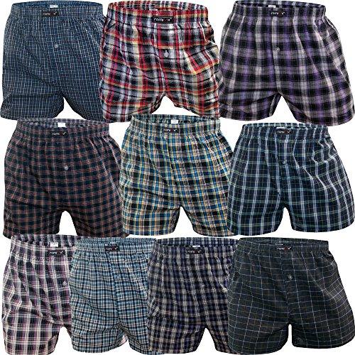 5-10 Boxershorts Men aus Baumwolle als Farbmix Unterhosen für Männer mit Eingriff Unterwäsche Herren Boxershort von SGS (9/3XL, 10 Stück)