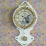 Vintage Orologio Da Parete In Legno Muto Orologi Antichi Orologio A Pendolo Soggiorno Camera Da Letto,White