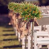 MIHOUNION 4 Stück Künstliche Sträucher Kunststoff Kunstblumen Orange Gypsophila Künstlich Plastikblumen Kunstpflanzen Arrangement Home Garten Büro Veranda Deko - 4