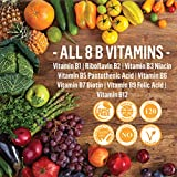 Vitamin B Complex - Natural Energy 120 Tablets (4 Months Supply) All 8 B Vitamins Biotin B12 B1 B2 B3 B5 B6 & B9