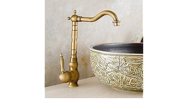 Bijjaladeva Vintage Antique Bronze cuivre complet en M/élangeur de cuisine H/ôtel de Salle de Bain Lavabo Robinet/Ancien robinet le robinet de salle de bain et froide robi