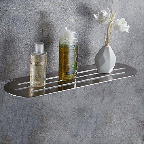 LHbox Tap 304 Edelstahl gebürstet Flat Racks Bad Handtuchhalter Badezimmer Handtuchhalter Inn, Schminktisch, 60 * 21 cm -