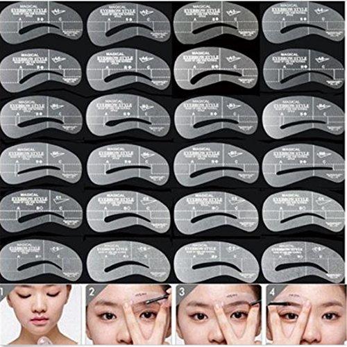 Set von 24 Augenbrauen-Schablonen, Make-up-Vorlagen, von VWH