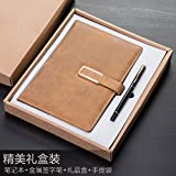 XIAOXINYUAN Notebook Libro Di Cancelleria Addensamento A5 Ufficio Business Notepad Diario Delle Forniture Per Ufficio. Brown Box Giallastro