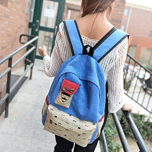 Keshi Neu Faschion Rucksäcke Damen Mädchen Schüler Lässige Canvas Rucksack Vintage Backpack Daypack Schulranzen Schulrucksack Wanderrucksack Schultasche Rucksack für Freizeit Outdoor Sport Leinwand Rot