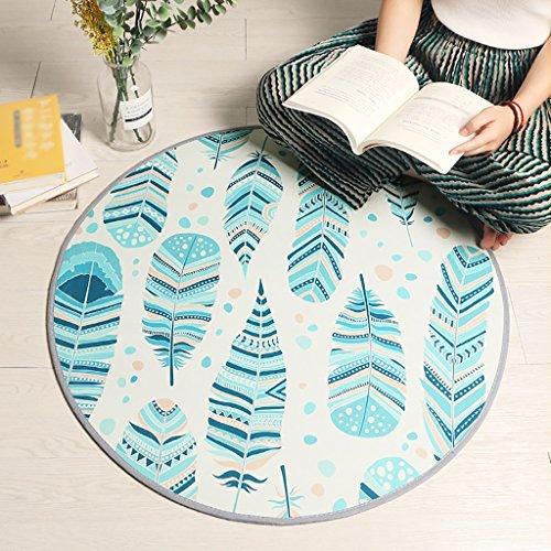 c Bedroom Round Teppiche Hanging Basket Teppiche Swivel Stuhl Computer Stuhl Matten (Farbe : #1, Größe : Durchmesser 60cm) ()