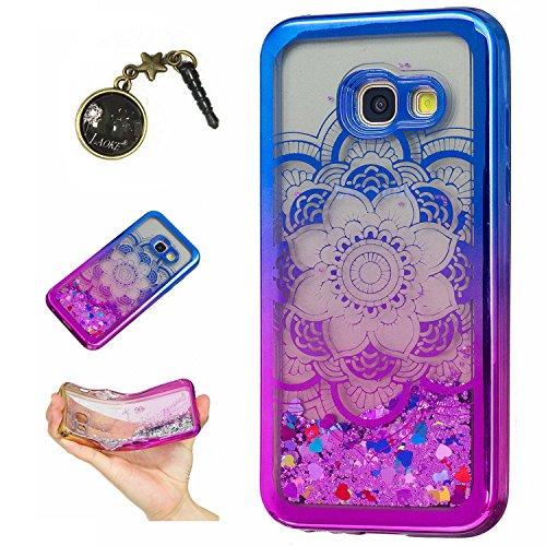 Preisvergleich Produktbild Laoke für Samsung Galaxy A3 (2017) Hülle Schutzhülle Handy TPU Silikon Hülle Case Cover Durchsichtig Gel Tasche Bumper ( + Stöpsel Staubschutz) (8)