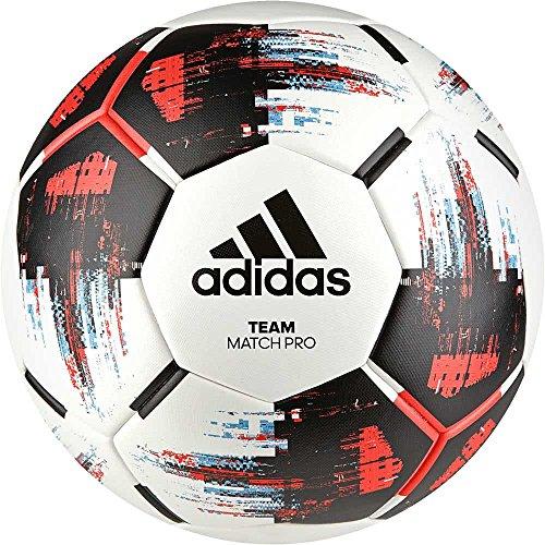 adidas Team Match Fußball, White/Black/Solar Red/Bright Cyan, 5