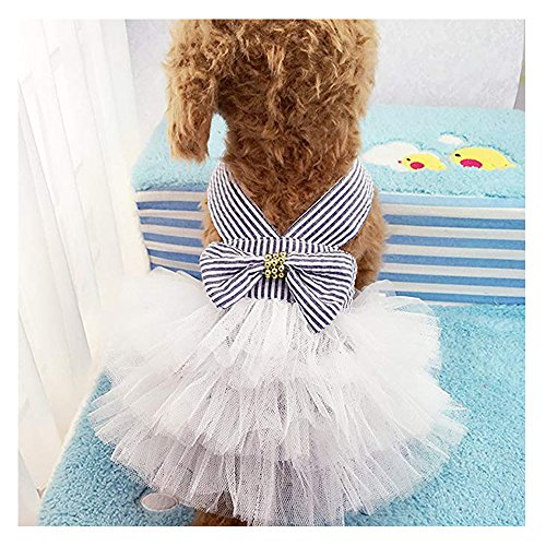 Famhome Hund Spring Summer Kleid, Mode Pretty Sommer Sweet Puppy Dog Pet Kleid Rock Hunde Prinzessin Kleider Pet Coat Apparel Kostüm