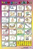 Literacy KNOW YOUR ALPHABET - School / Nursery Wall Chart / Poster - 60cm x 40cm